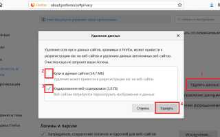 Как почистить кеш браузер Мозилла